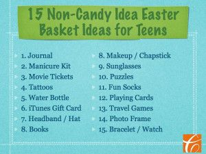 15 non candy easter basket ideas for teens easter pinterest 15 non candy easter basket ideas for teens negle Gallery