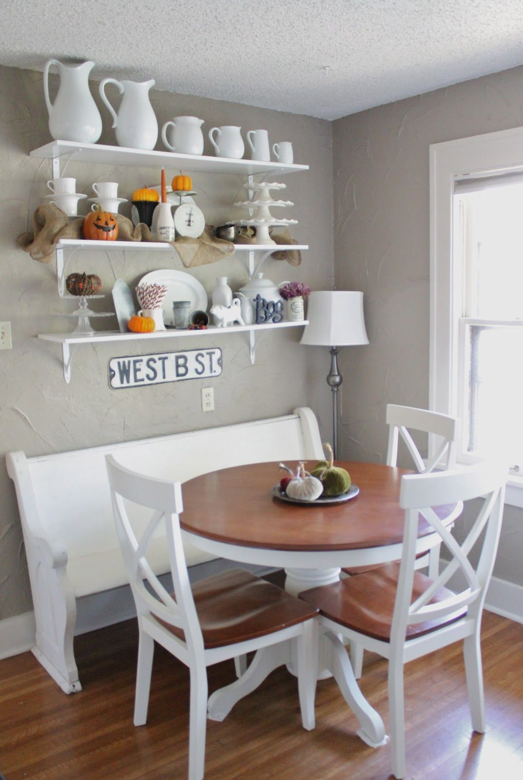 A Breakfast Nook Small Kitchen Tables Small Round Kitchen Table