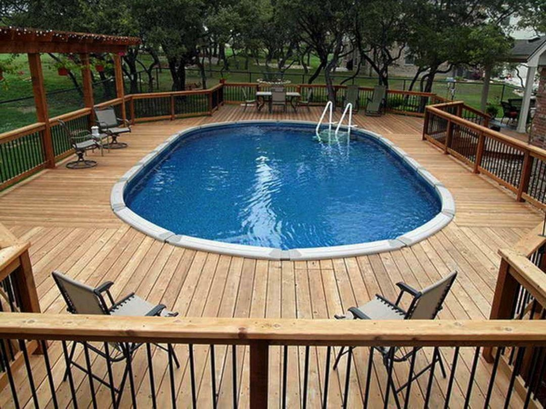 #decorathing #swimming #ground #design #above #pools #decks #oval #with #top #2525 Top Oval Above Ground Swimming Pools Design with Decks – DECORATHING25 Top Oval Above Ground Swimming Pools Design with Decks – DECORATHING  Deck ideas - in my happiest, richest dreams!!  Stunning 10 Above Ground Pool Landscape Ideas for Your Backyard – BosiDOLOT  Above+Ground+Pool+Deck+Ideas | Pools - Photos of Above-Ground Swimming Pool Designs - Above-Ground ...  above ground lap pool  Above ground poo...