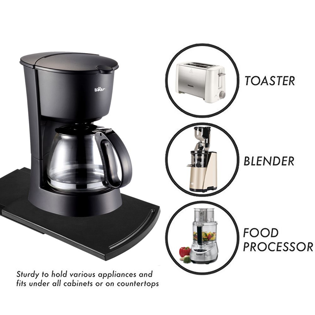 Handy Caddy Sliding Tray For Coffee Maker Appliance Coffee Maker Countertop Storage Countertops