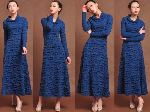 spring dresscotton maxi dressknit dresssuper long dress by dongli