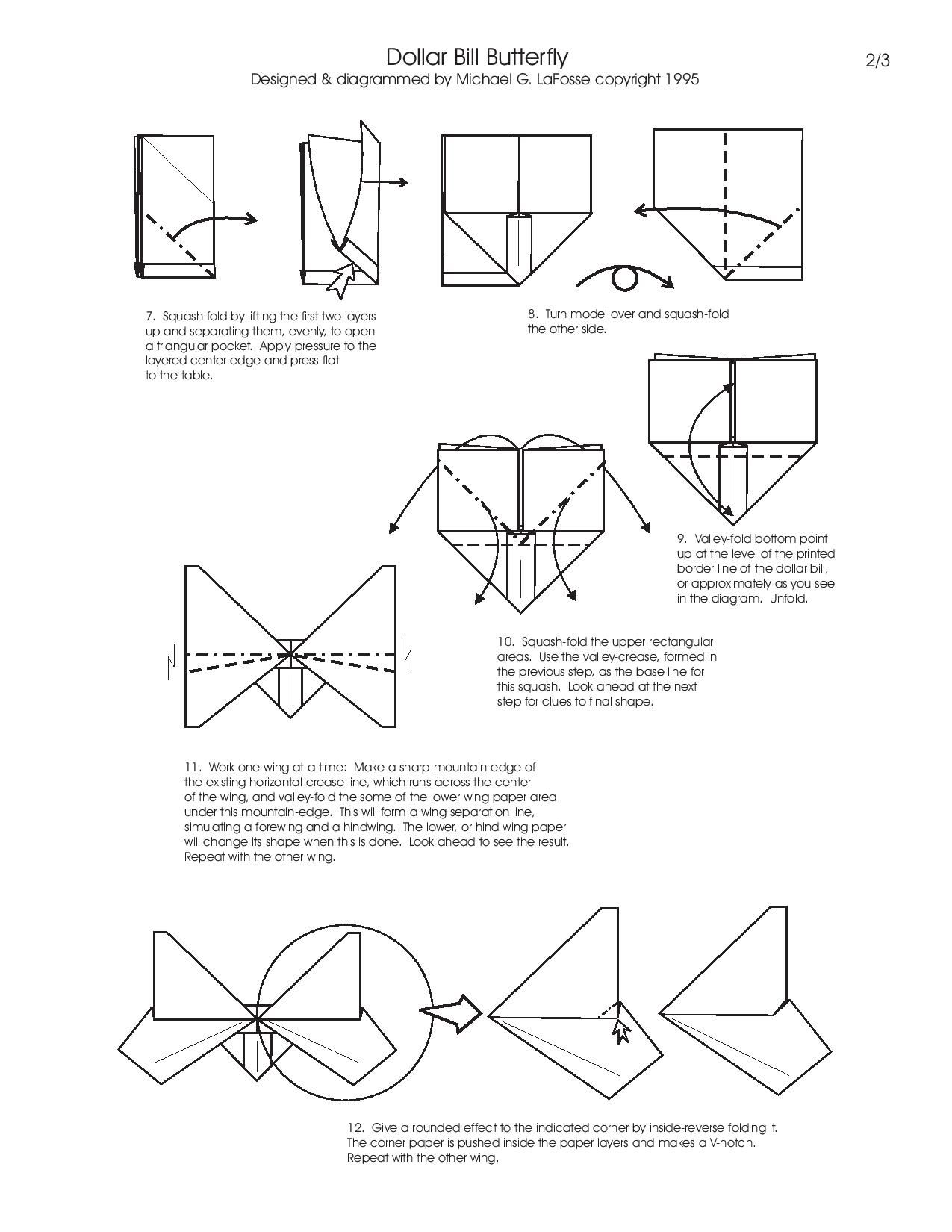 How to fold Money Origami, or Dollar-Bill Origami | 1650x1275