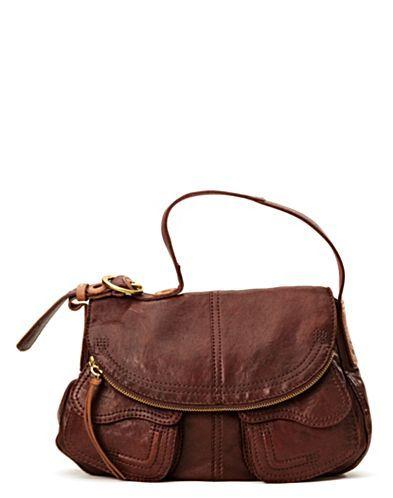 Brown Leather Stash Bag Handbags Lucky Brand Jeans