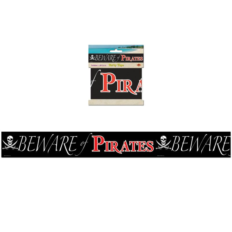 Beware Of Pirates Party Tape 20 With Images Pirate Party Pirates Kids Birthday Party Supplies