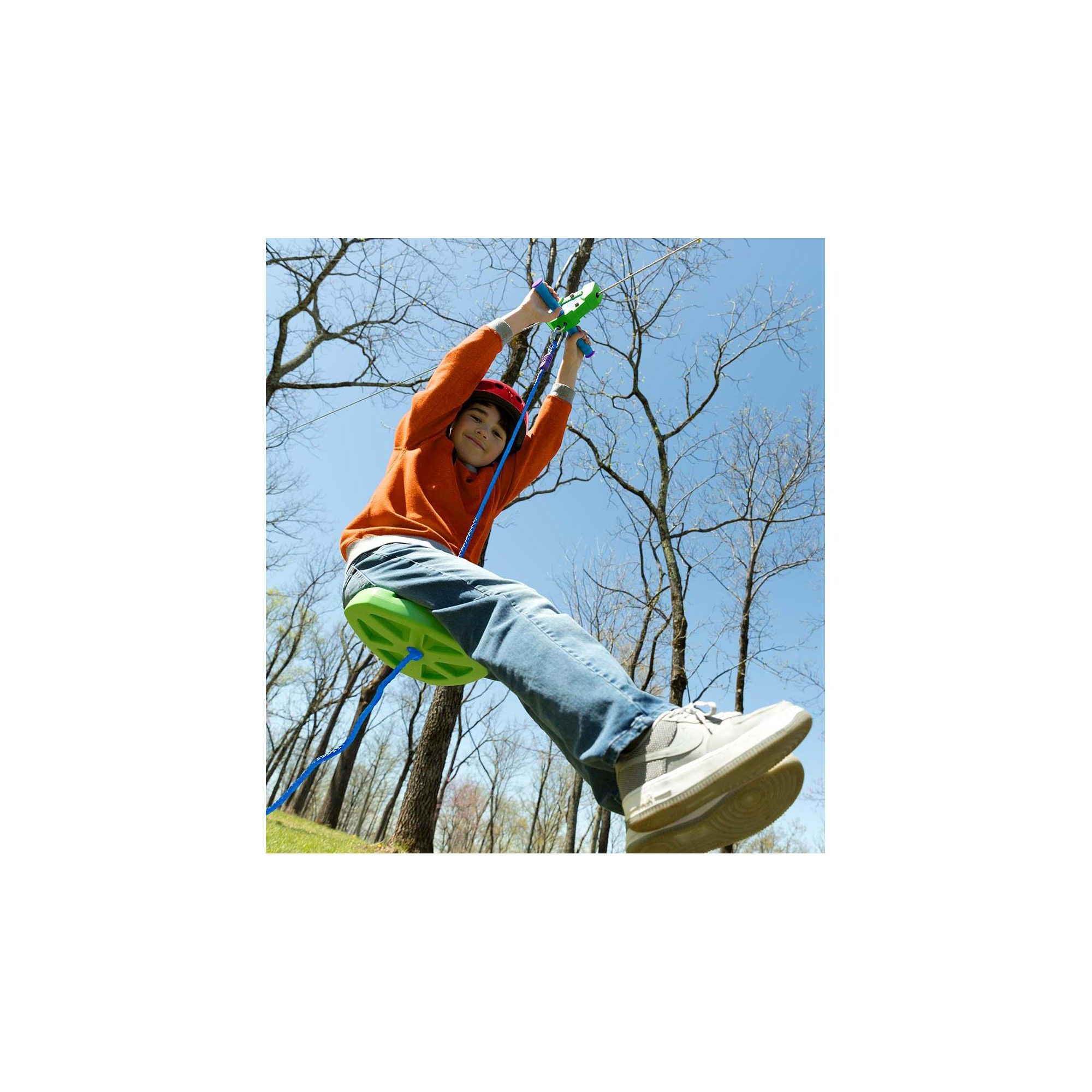 Backyard Zipline Kit For Kids Outdoor Play, 100' L, Green ...