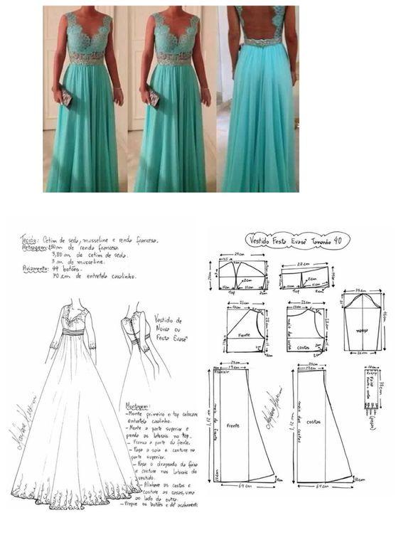 Vestidos | patrones costura | Pinterest | Vestiditos, Patrones y Molde
