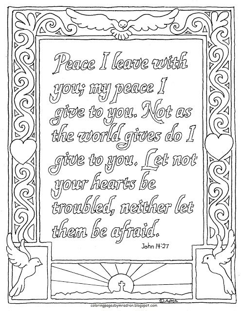 John 14 27 Coloring Page Peace I Leave With You Coloring