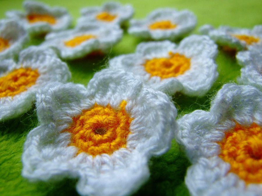 Diy Gänseblümchen Häkeln Crochet Daisies Handarbeiten