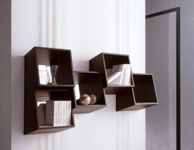 Repisas de madera para pared modernas decoraci n deco - Paredes de madera decoracion ...