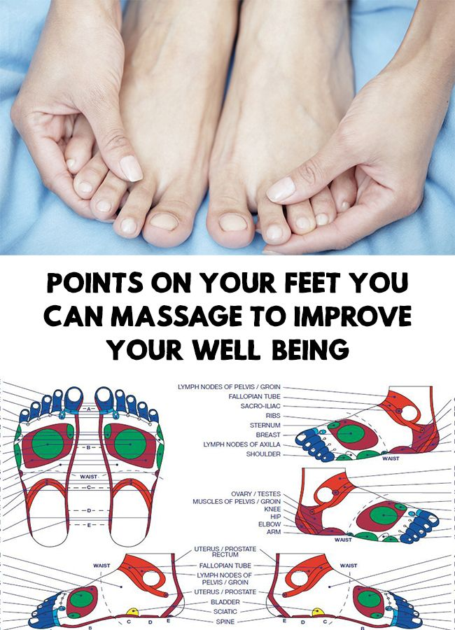 Points On Your Feet You Can Massage To Improve Your Well Being