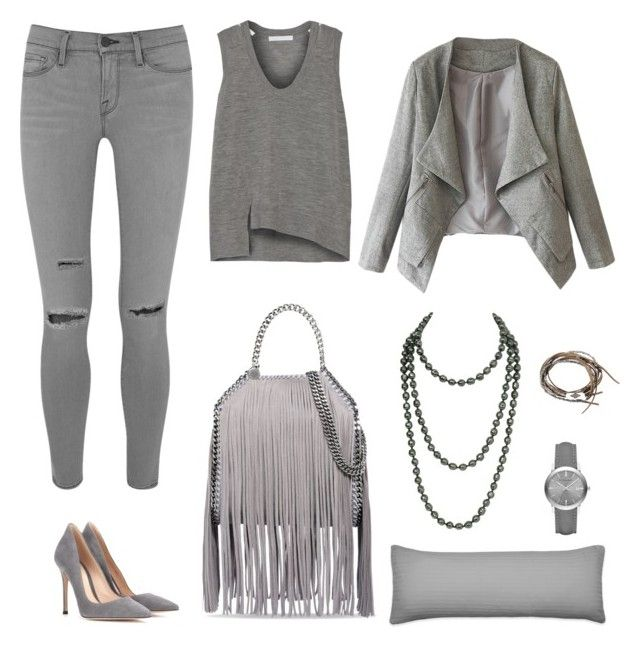 """""""GREY"""" by licethfashion ❤ liked on Polyvore featuring STELLA McCARTNEY, Gianvito Rossi, Frame Denim, Alexander Wang, Burberry and Chanel"""