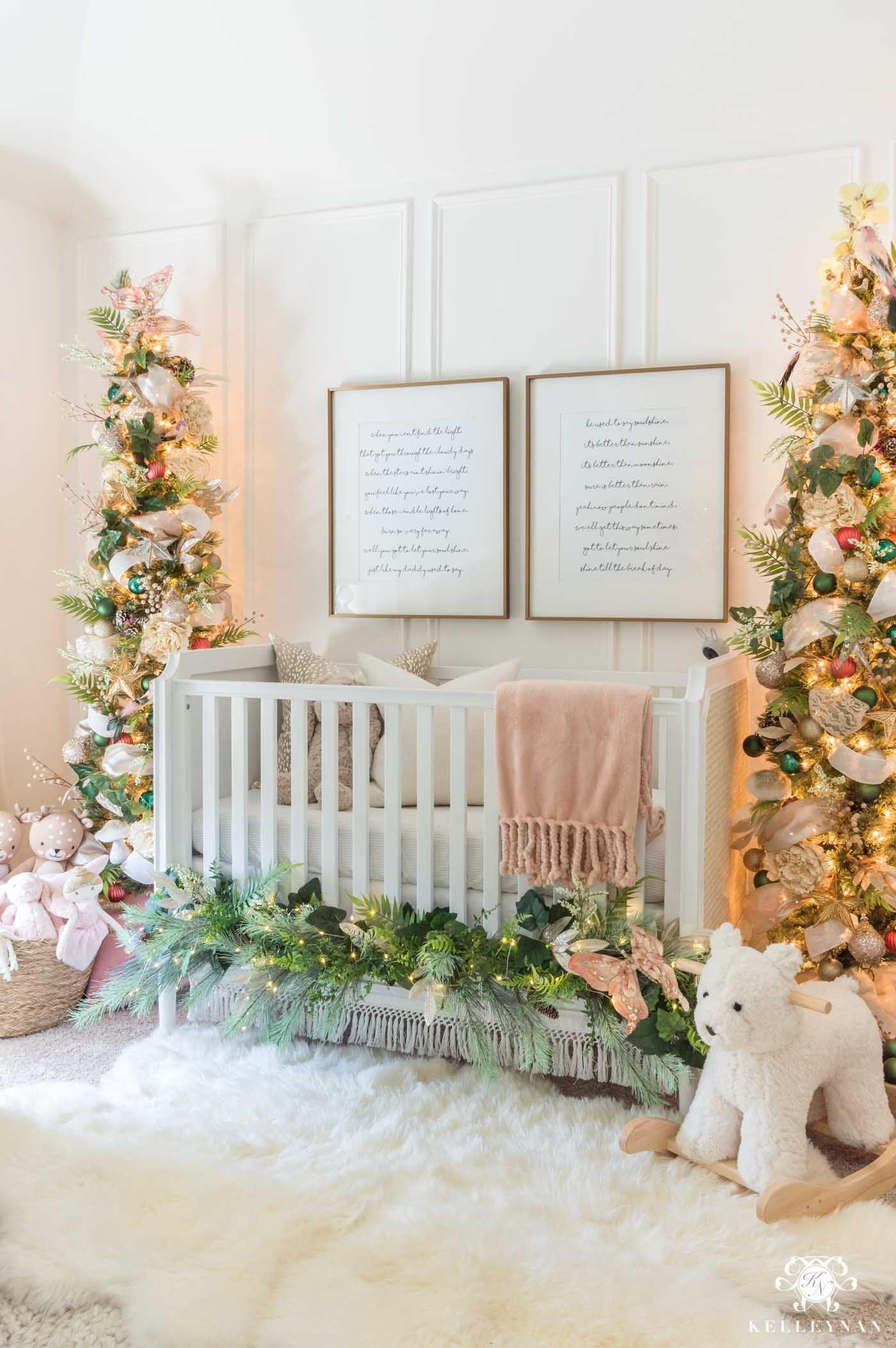 Nursery Christmas Decorations Whimsical Bedroom Ideas Kelley Nan Whimsical Bedroom Neutral Christmas Decor Christmas Decorations Bedroom