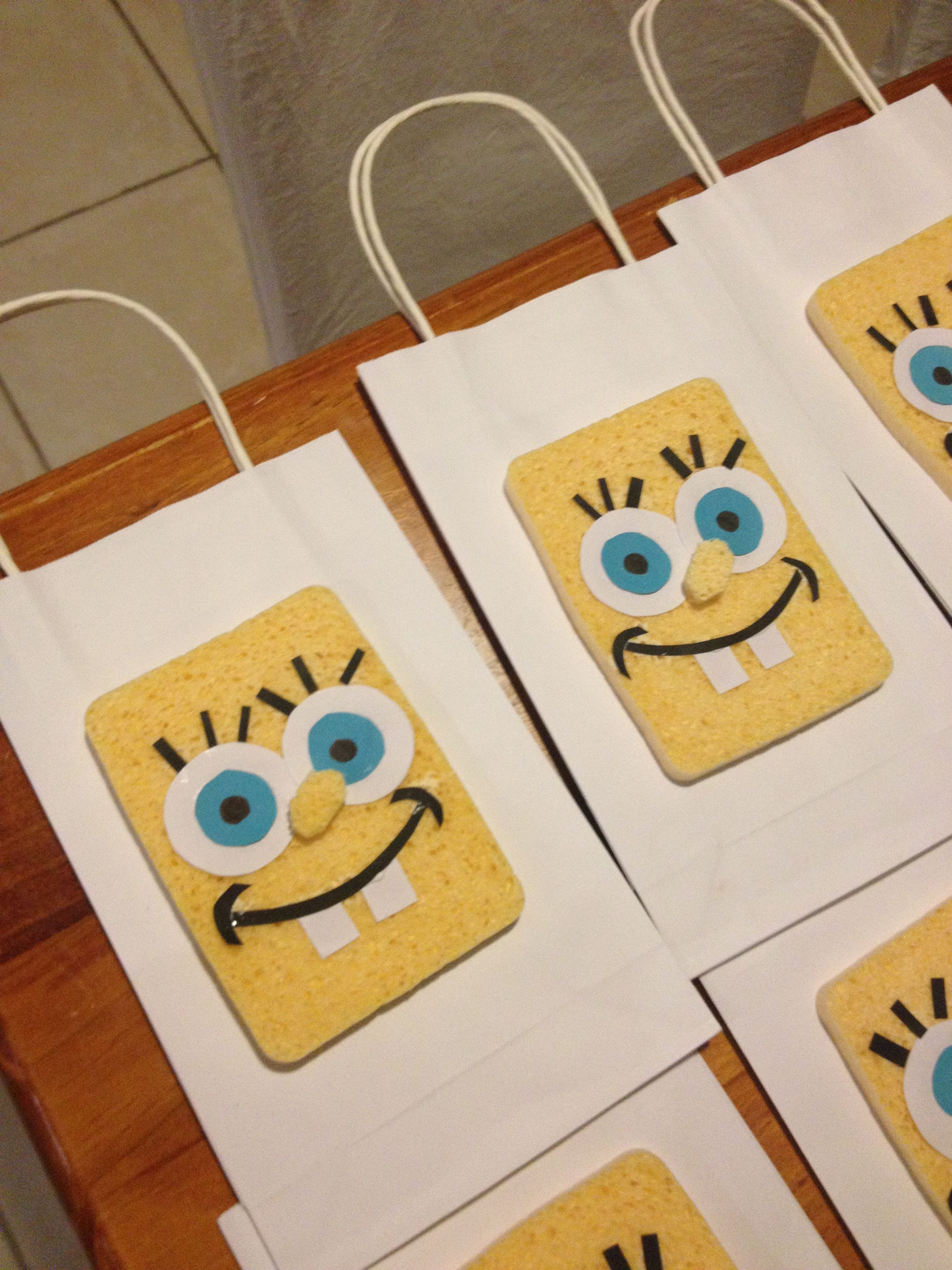 Craft For Kitchen Yellow Kitchen Sponges And Craft Paper For Party Favor Bags