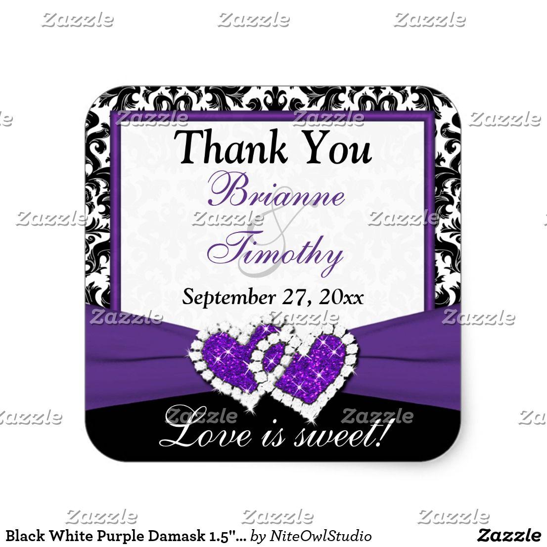 Black White Purple Damask 1.5\