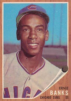 1962 Topps Ernie Banks 25 Baseball Card Value Price Guide Baseball Card Values Ernie Banks Baseball Cards