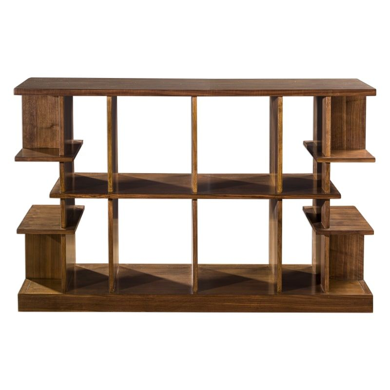 Uttermost 25996 Simeto 54 Inch Wide Walnut Veneer Console Table With