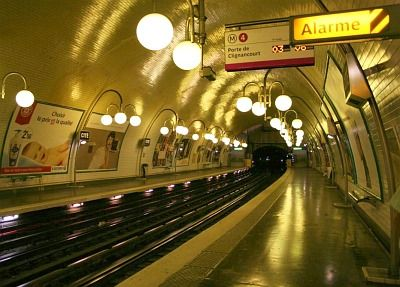 Train Station Lights The Paris Metro