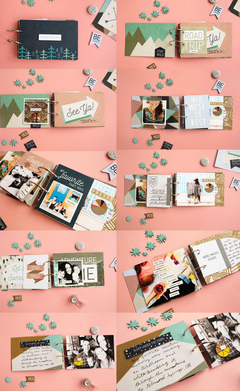 Scrapbook paper book - Mini Book Diy Scrapbook Fotoalbum