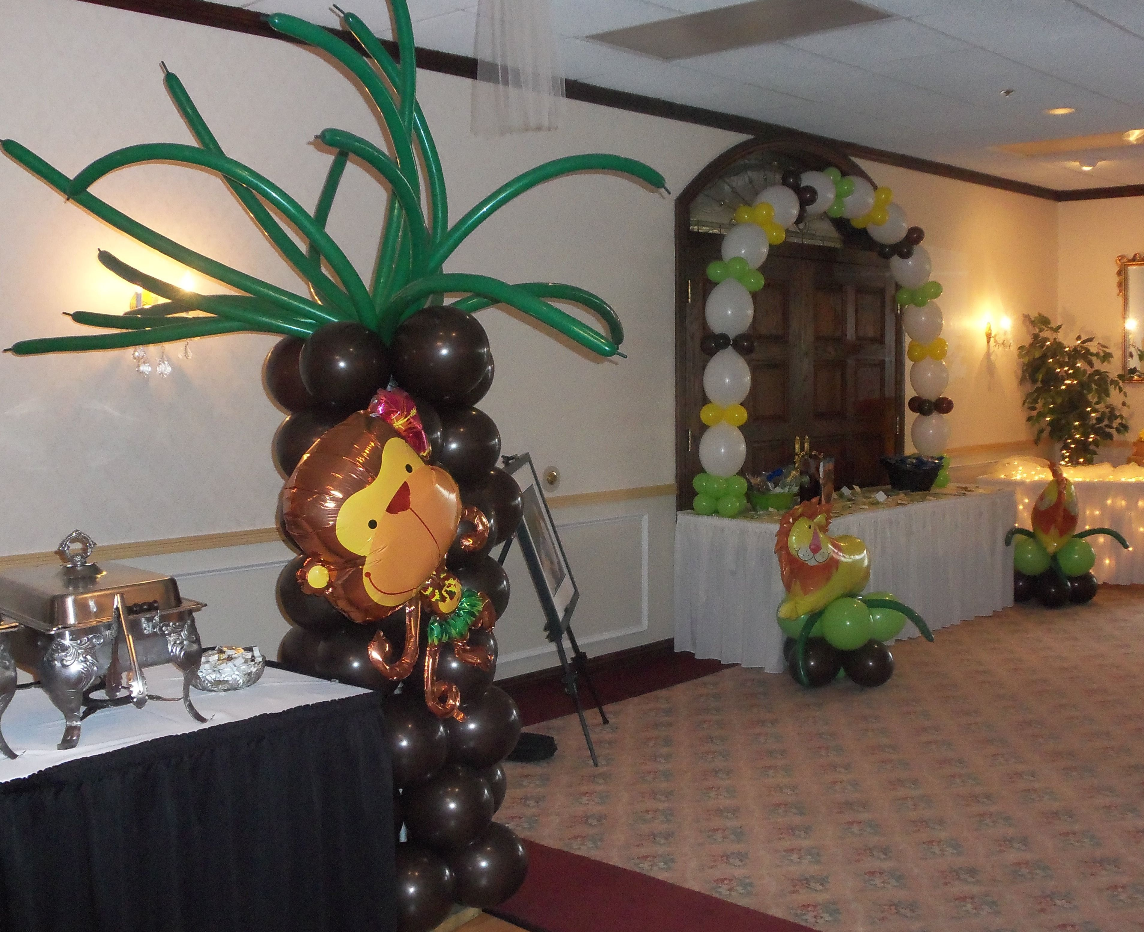 Jungle safari babyshower decoration ideas themed