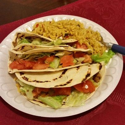 "Chicken Tacos I ""This recipe was easy to make and very tasty!! Even my 13 year old son liked the chicken."""