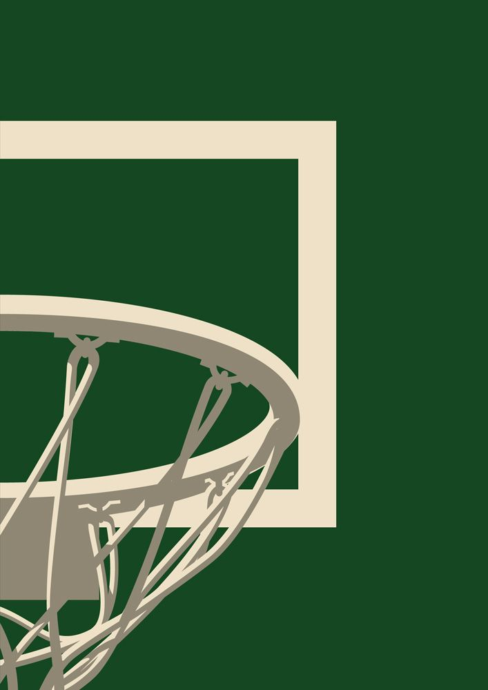 picture relating to Milwaukee Bucks Schedule Printable identify Milwaukee Dollars NBA Basketball Backboard Printable Print