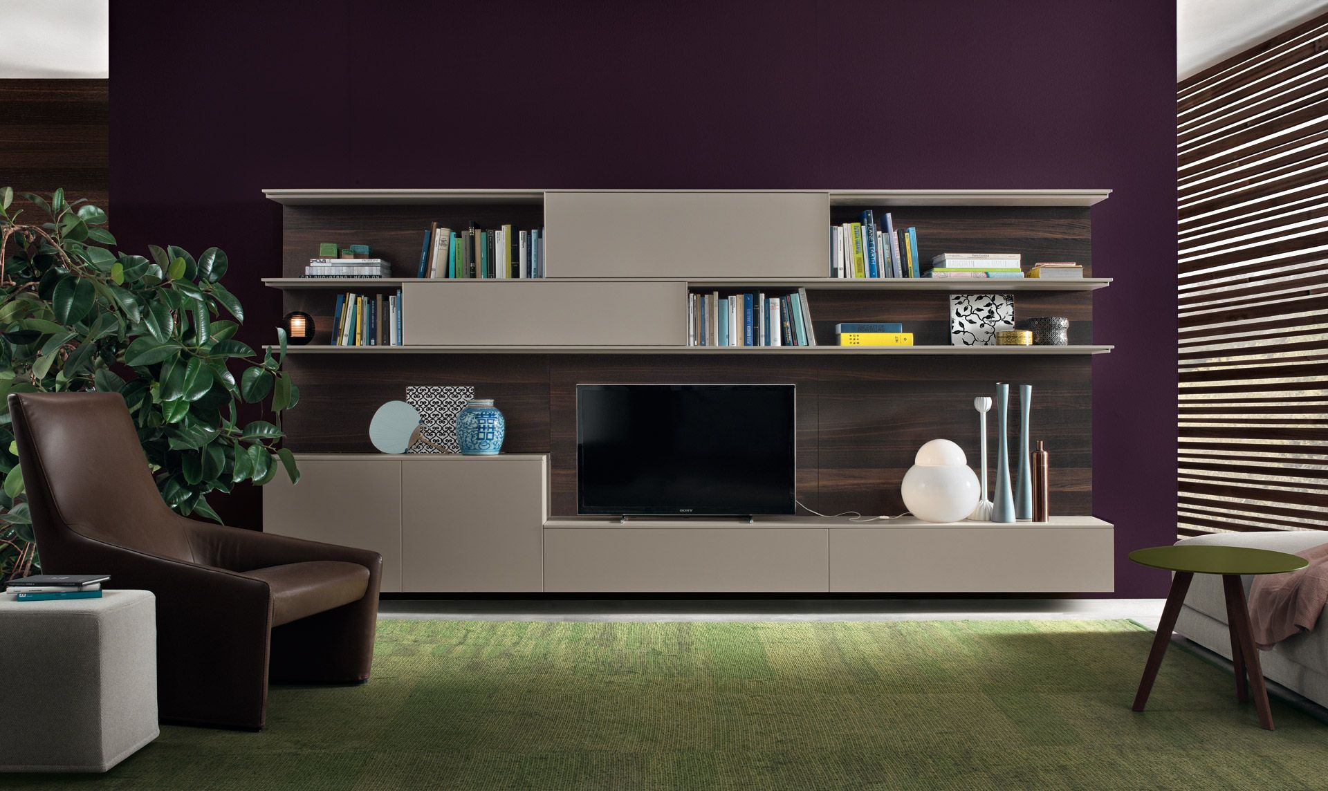 wall unit system with space for tv bookshelves and storage living room wall unit blends trendy design with smart