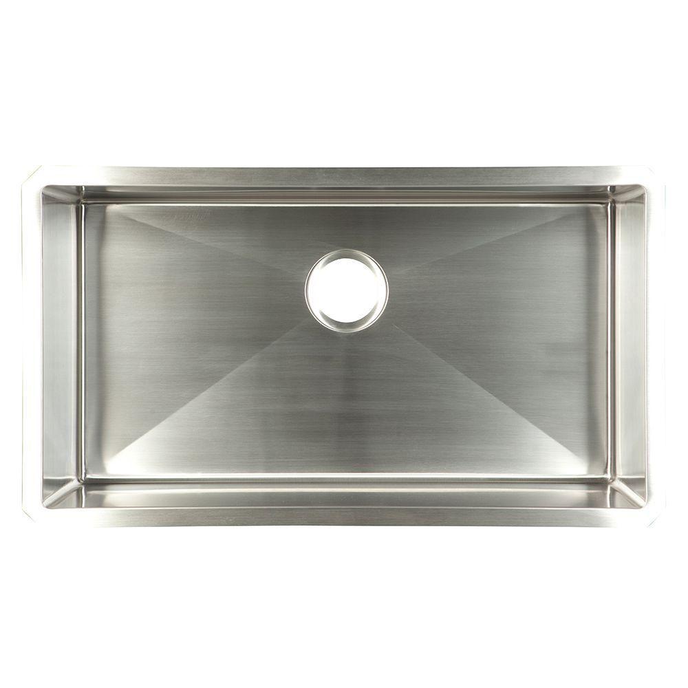 Undermount stainless steel xx gauge single bowl kitchen
