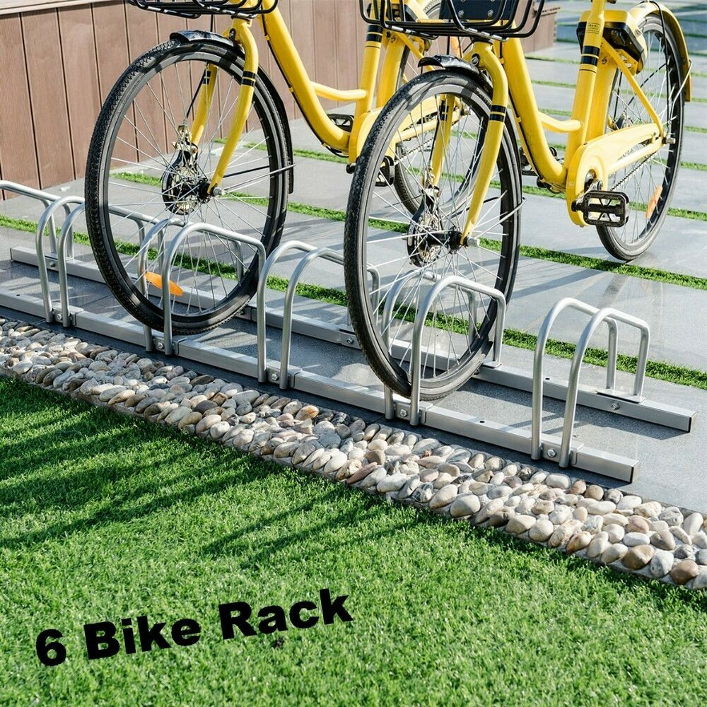 Commercial Bicycle Rack Stand 6 Bike Holder Floor Wall Mount