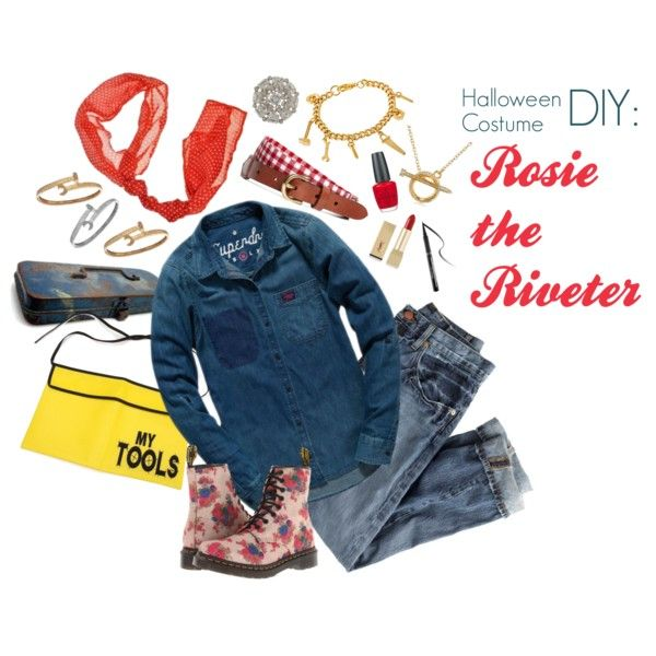 DIY Rosie the Riveter Halloween Costume for College Students - Find - halloween costume ideas from your closet