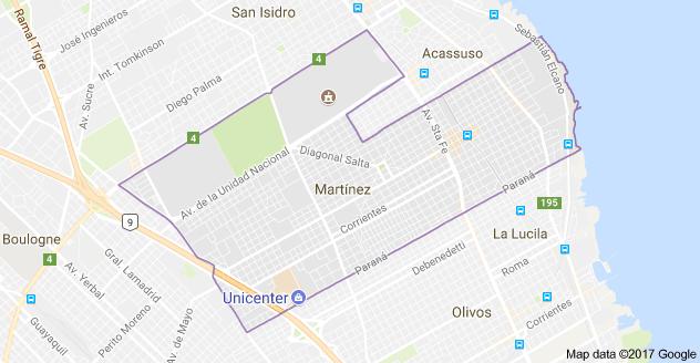 Mapa de Martnez Buenos Aires mapa de martinez Pinterest