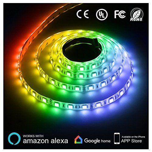 Texsens Led Light Strip 164ft 5m Smart Phone Controlled Lightstrip