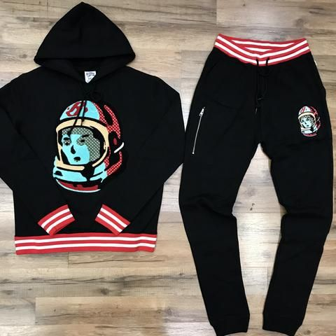6a707a925 BILLIONAIRE BOYS CLUB SWEATSUIT 881-2301 BLACK Billionaire Boys Club,  Athletic Wear, Graphic