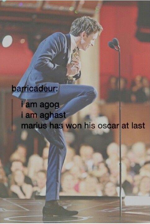 "I saw on a magazine at the store: ""Eddie Redmayne wins Oscar"" and I just whispered, ""Marius won!"""
