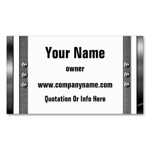 metal frame border business cards  zazzle  metal