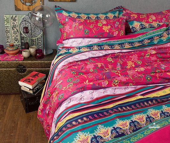 Shabby Chic Boho Bedroom: 100% Cotton Nordic Boho 4 Piece Duvet Bedding Set Queen
