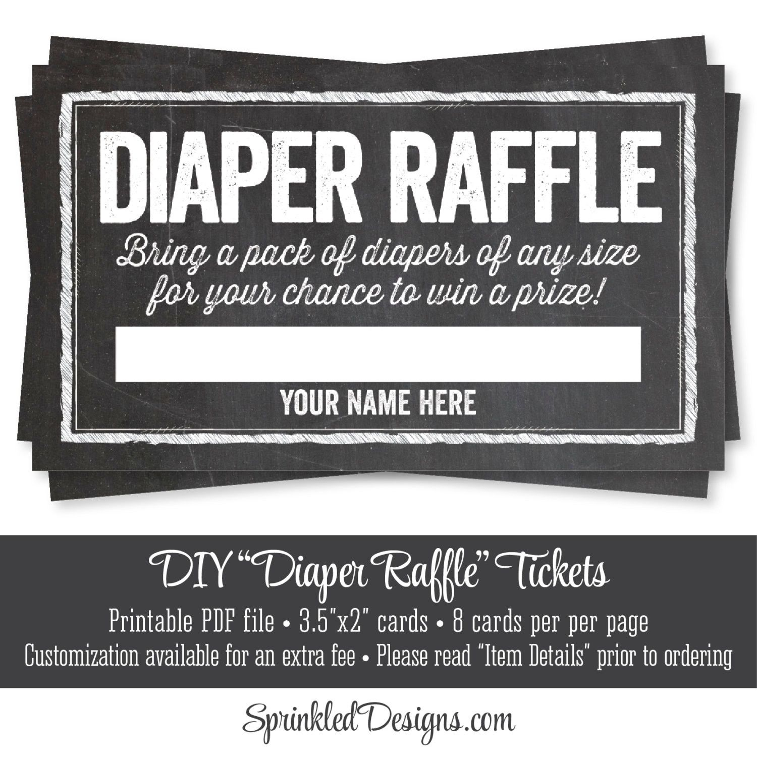printable diaper raffle tickets chalkboard baby shower game printable diaper raffle tickets chalkboard baby shower game bring sprinkled designs