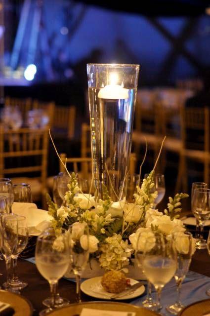 Centros de mesa con bases de cristal    ideasparamisquince