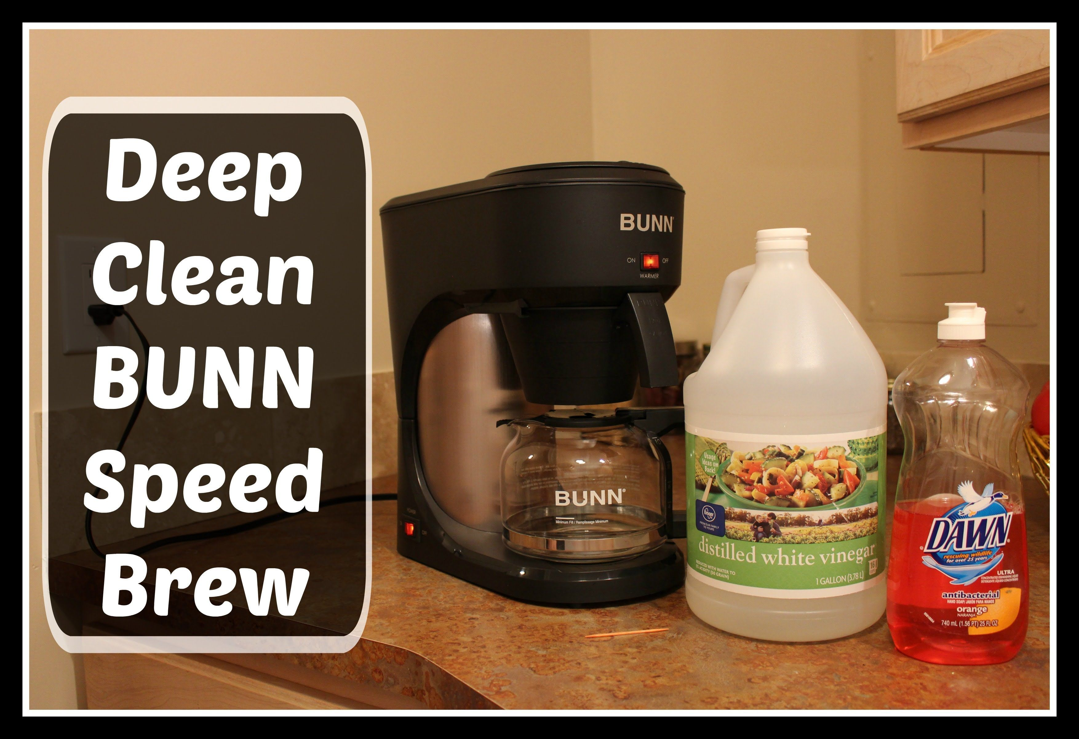 How to deep clean bunn speed brew coffee maker using
