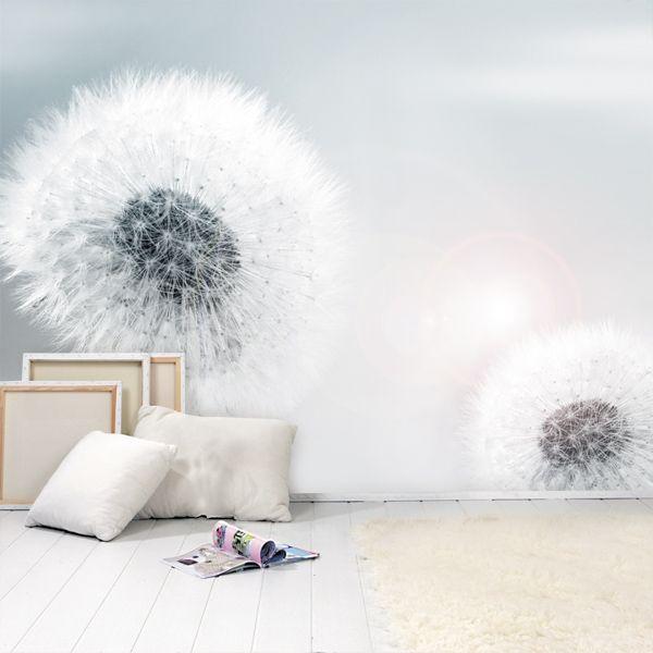 Pin von Nina Hedin auf Tapet Pinterest Fototapete pusteblume - wohnzimmer tapeten weis