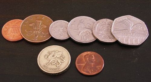 British Money Pictures Coins And Us Penny