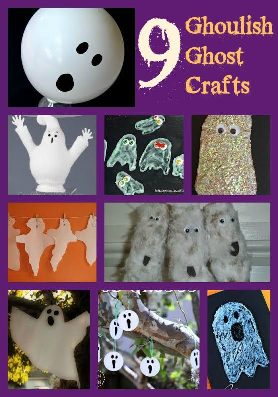 9 Ghoulish Ghost Crafts Holidays, Ghost crafts and Halloween ideas - halloween decorations to make on your own