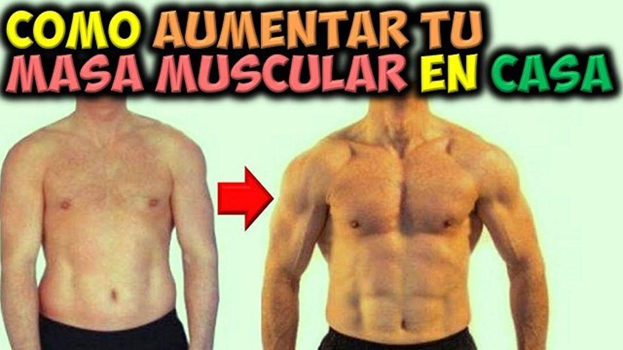 Se puede ganar masa muscular en casa