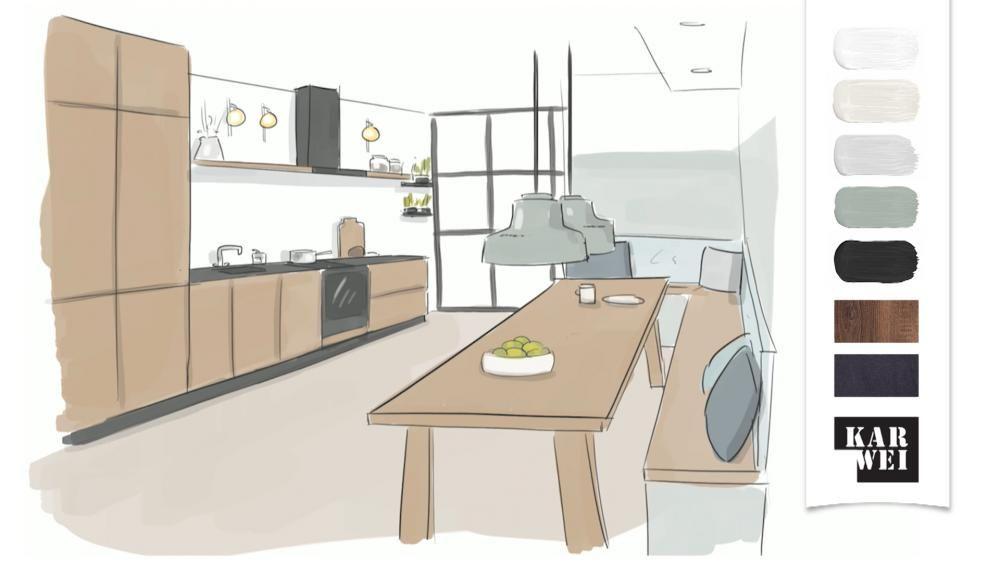 Strakke woonkeuken ontwerp eigen huis en tuin keukens for Ontwerp eigen huis