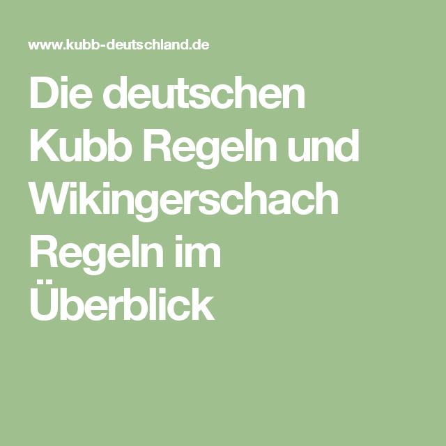 Kubb Regeln Pdf