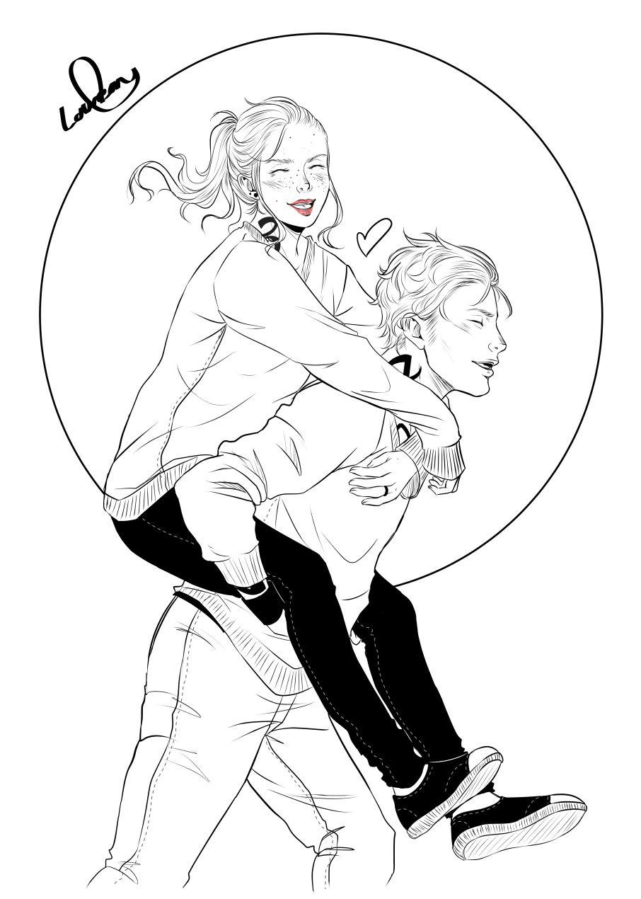 Digital Inktober n°7 : Jace Herondale & Clary Fairchild