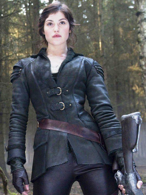 Gemma Arterton Es Gretel En Hansel Y Gretel Cazadores De Brujas Fashion Gemma Arterton Leather Coat