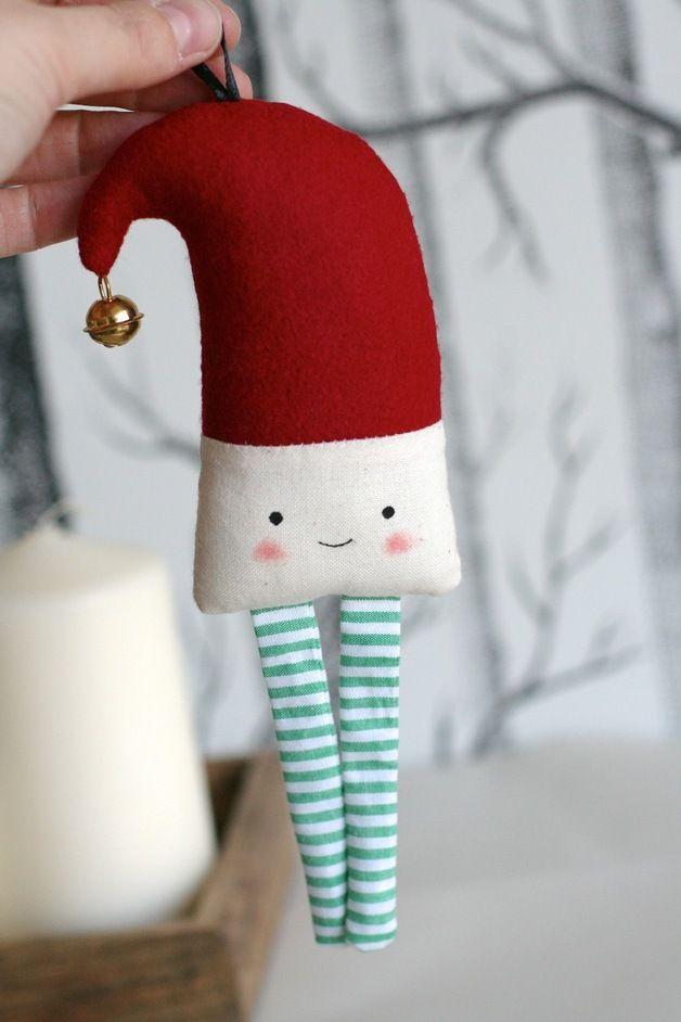 Weihnachtswichtel Rot/grün-gestreift   Weihnachtsmann, Weihnachten ...