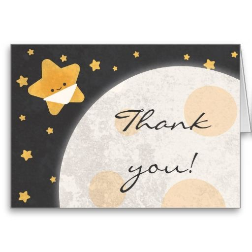 Twinkle little star baby shower thank you card baby shower thank twinkle little star baby shower thank you card m4hsunfo
