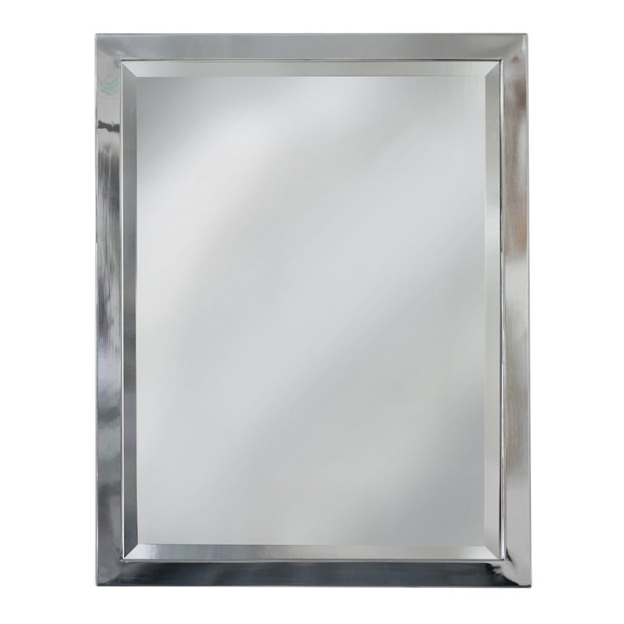 Pic On allen roth H x W Chrome Rectangular Bathroom Mirror bathroom mirrors