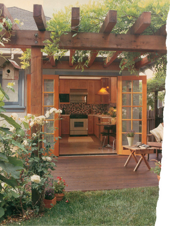 Deck Off Kitchen Outdoor Room In 2019 Outdoor Rooms Pergola